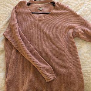 American Eagle Pink Choker Sweater